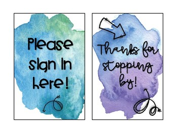 Watercolor Signs