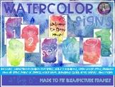 Watercolor Signs