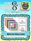 Watercolor Skinny Frame Set