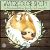 Watercolor Sloth EDITABLE Job Chart