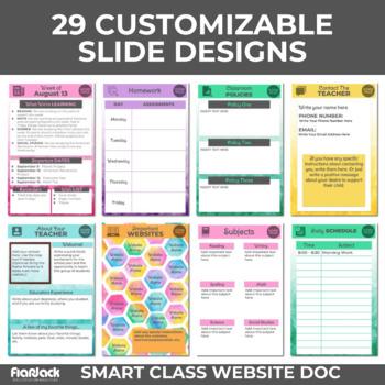 Watercolor Smart Class Website Doc (Google Slides Style!)