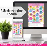 Parent Communication Template | Google Slides | Class Website | Watercolor