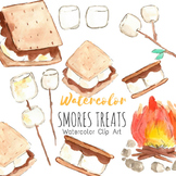 Watercolor Smores Clipart Set - Personal And Commercial Use