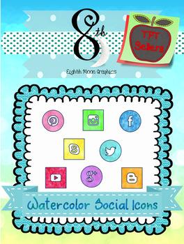 Watercolor Social Icons