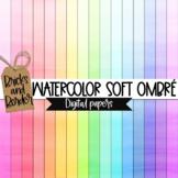 Watercolor Soft Ombre Digital Paper Clip Art