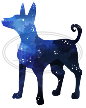 Watercolor Space Animals Clipart