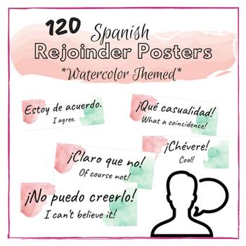 Watercolor Spanish Rejoinders