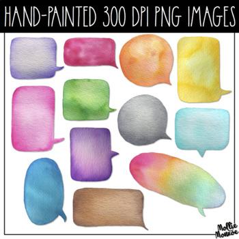 Watercolor Speech Bubble Clip Art