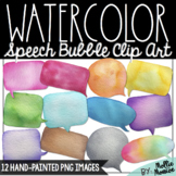 Watercolor Speech Bubble Clip Art