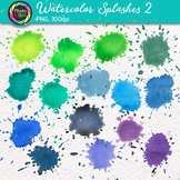 Watercolor Splashes Clip Art {Hand-Painted Watercolor Spla