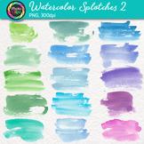 Watercolor Splotches Clip Art {Hand-Painted Watercolor Tex