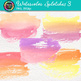 Watercolor Splotches Clip Art {Hand-Painted Watercolor Textures in Warm Color} 3