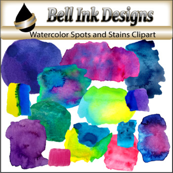 Watercolor Spots and Stains Clipart