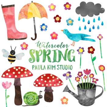 Watercolor Spring Clip Art