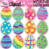Watercolor Spring Easter Egg Clipart