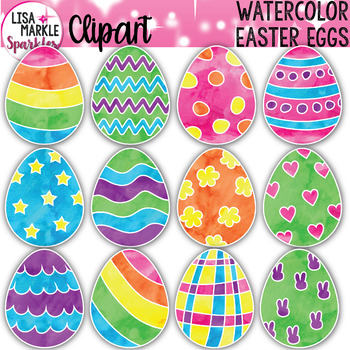 watercolor spring easter egg clipart tpt rh teacherspayteachers com easter egg clipart to color easter egg clipart etsy