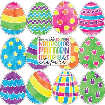 watercolor spring easter egg clipart tpt rh teacherspayteachers com easter egg clipart images easter egg clipart png