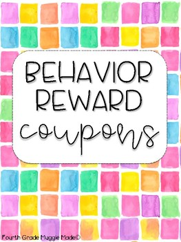 Watercolor Square Behavior Reward Coupons