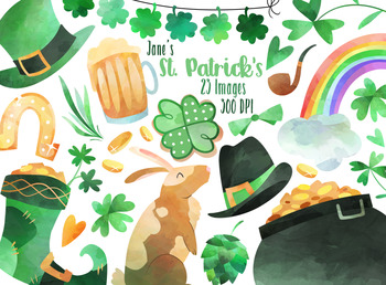 Watercolor St. Patrick's Day Clipart