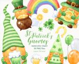 Watercolor St Patricks Day Gnomes Clipart, Irish Leprechaun PNG
