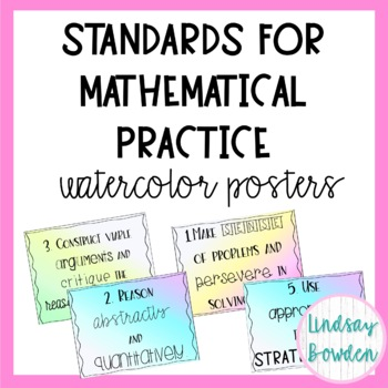 Watercolor Standards of Mathematical Practice