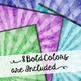Watercolor Starburst - Digital Papers