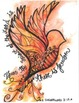 Watercolor Stationary -- Bird