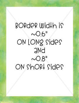 Watercolor Straight Borders