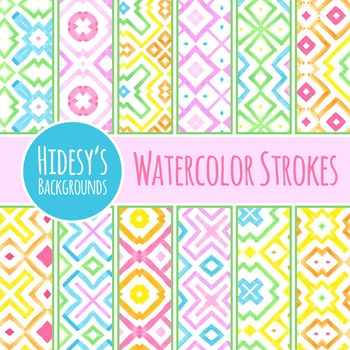 Watercolor Strokes Background / Digital Paper / Clip Art for Commercial Use