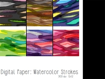 Watercolor Strokes Digital Paper