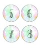 Watercolor Student Number Labels