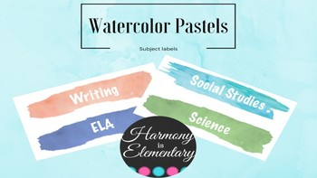 Watercolor Subject Titles