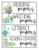Watercolor Succulent Classroom Decor Growing Bundle