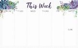 Watercolor Succulent Desk Calendar & Notepads