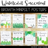 Watercolor Succulent & Cactus Growth Mindset Posters