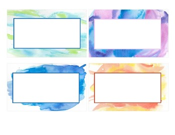 Watercolor Supply Labels