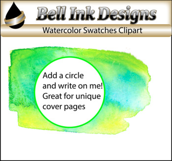 Watercolor Swatch Clipart