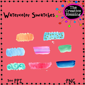 Watercolor Swatches Clip Art