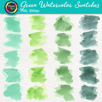 Watercolor Swatches Clip Art Bundle {Hand-Painted Textures for Backgrounds}