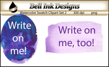 Watercolor Swatches Clipart Set 2