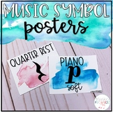 Music Decor - Watercolor Dynamics, Durations and Symbols