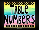 Watercolor Table Number Signs (Color Splash Series)-Editable