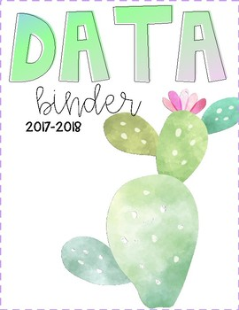 Watercolor Teacher Binder Covers
