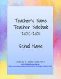 Watercolor Teacher Notebook: Organizer/Planner 2018 - 2019