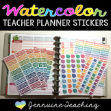 Watercolor Teacher Planner Stickers