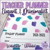 Undated Watercolor Teacher Planner by Versatile Teacher Toolkit