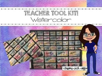 Teacher Tool Box Kit - Multi Drawer Organizer {Watercolor}