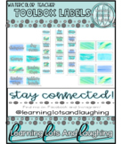 Watercolor Teacher Toolbox Labels!