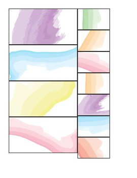 Watercolor Teacher Toolbox Labels