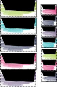 Watercolor Teacher Toolbox Labels {Editable}